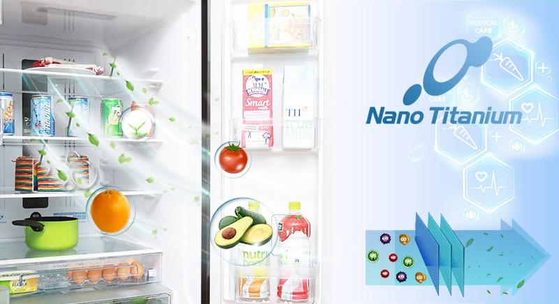 Tủ lạnh Hitachi 382 lít R-WB475PGV2-GBK Kháng khuẩn nano titanium