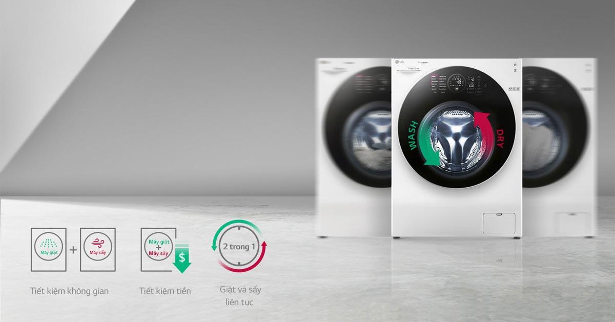 Máy Giặt LG TWINWash FG1405H3W chức năng giặt và sấy