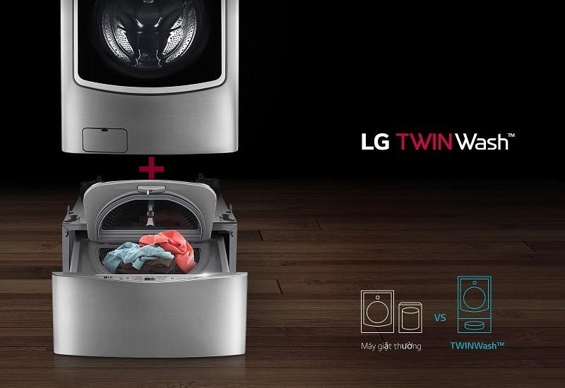 Máy giặt Mini 3.5 kg LG T2735NWLV twin wash