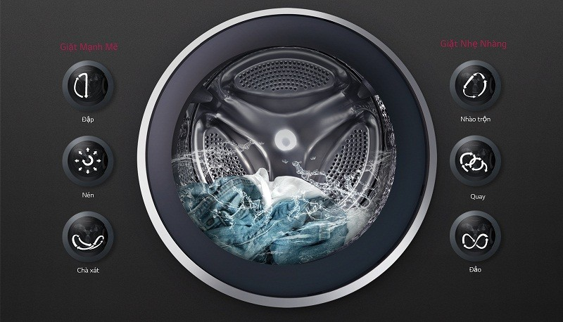 Máy giặt Mini 3.5 kg LG T2735NWLV Giặt mô phỏng bàn tay người