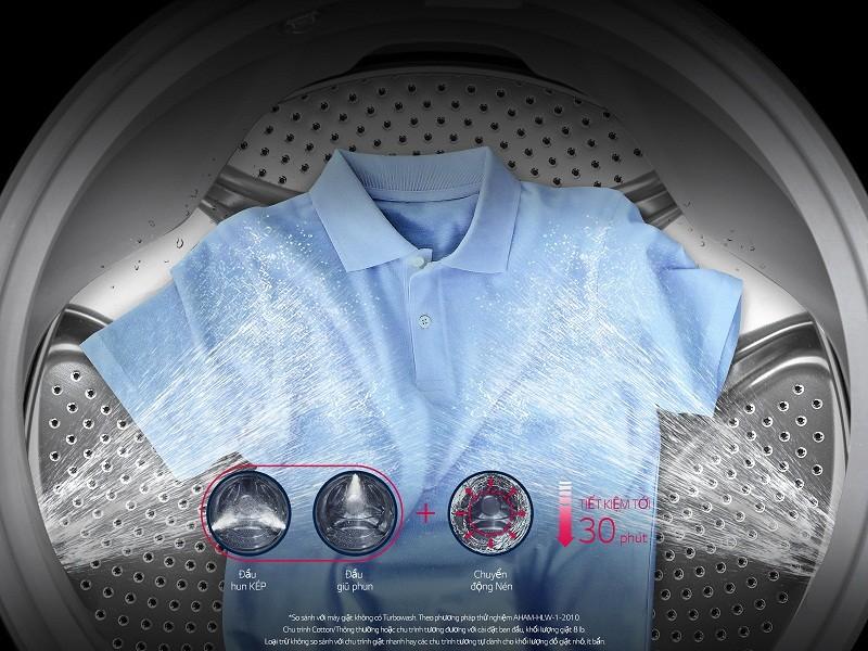 Máy giặt Mini 3.5 kg LG T2735NWLV Công nghệ giặt tiết kiệm
