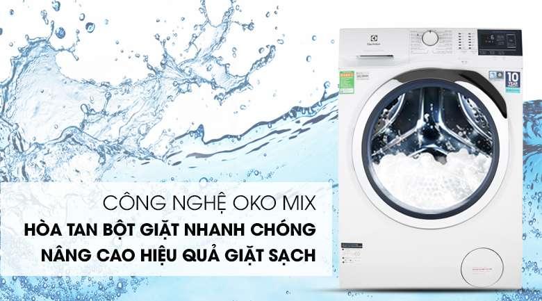 Máy giặt Electrolux EWF9024BDWB - công nghệ oko mix hòa tan bột giặt hiệu quả