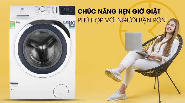 Máy giặt Electrolux EWF9024BDWB - Tiện lợi với chức năng hẹn giờ giặt xong