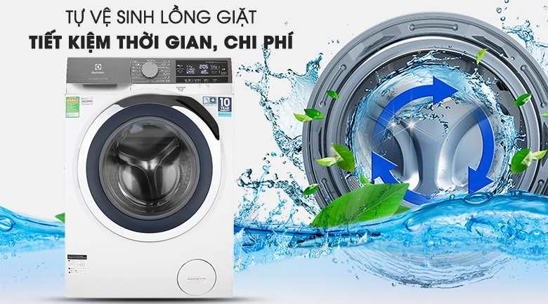 Máy giặt Electrolux Inverter 10 kg EWF1023BEWA - Tiết kiệm chi phí nhờ tính năng tự vệ sinh máy giặt