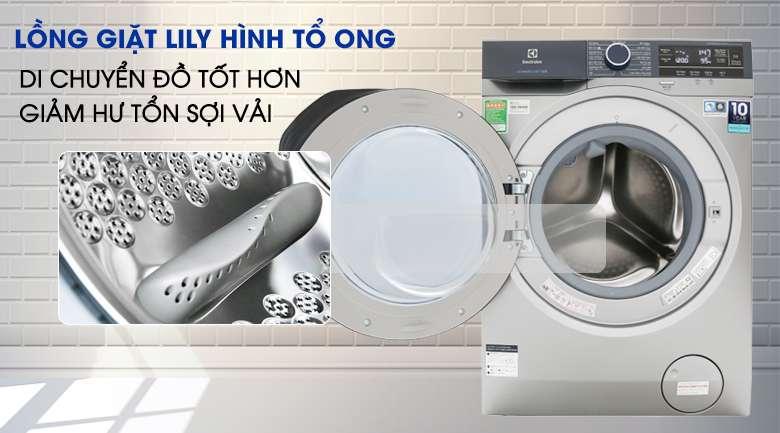 Giặt sạch hơn với lồng giặt Lily - Máy giặt Electrolux Inverter 9.5 kg EWF9523ADSA