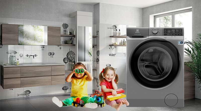 Máy giặt Electrolux Inverter 11 kg EWF1141AESA - An toàn, tránh nghịch phá với tính năng khóa trẻ em