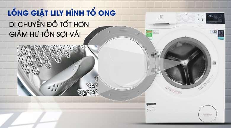 Lồng giặt Lily - Máy giặt Electrolux Inverter 10 kg EWF1024BDWA