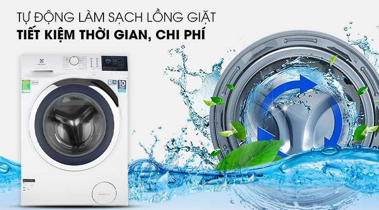 Vệ sinh lồng giặt tự động - Máy giặt Electrolux Inverter 10 kg EWF1024BDWA