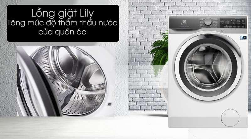 Máy giặt Electrolux Inverter 11 kg EWF1142BEWA - lồng giặt Lily