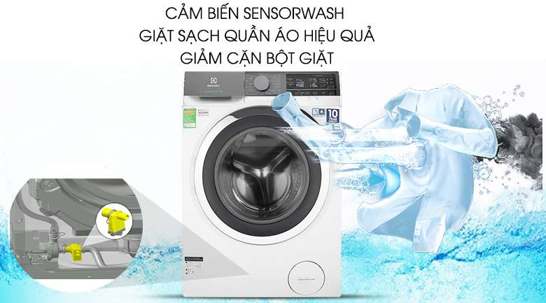 Cảm biến SensorWash - Máy giặt Electrolux Inverter 11 kg EWF1142BEWA