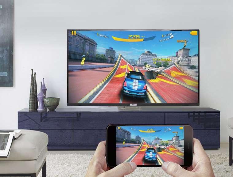 Chiếu màn hình điện thoại lên tivi trên Android Tivi TCL 40 inch 40S6500