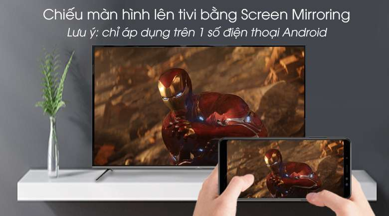 Android Tivi TCL 4K 65 inch L65P8-UF - Screen Mirroring