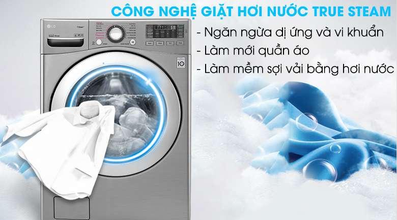 Giặt hơi nước - Máy giặt LG Twinwash Inverter F2719SVBVB & T2735NWLV