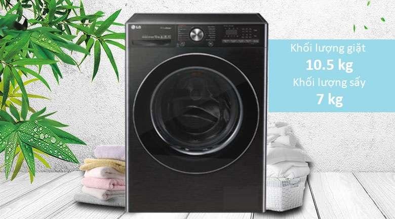 Khối lượng giặt 10.5 kg - Máy giặt sấy LG Inverter 10.5 kg FV1450H2B