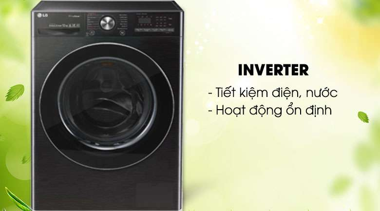 Công nghệ Inverter - Máy giặt sấy LG Inverter 10.5 kg FV1450H2B