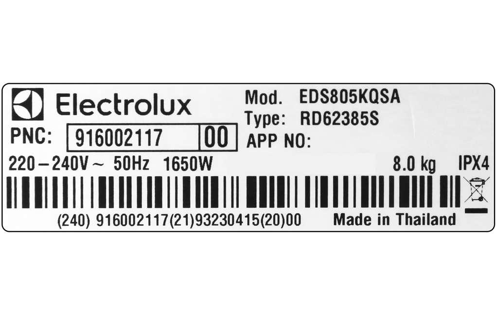 Electrolux Eds805kqsa 11 Org
