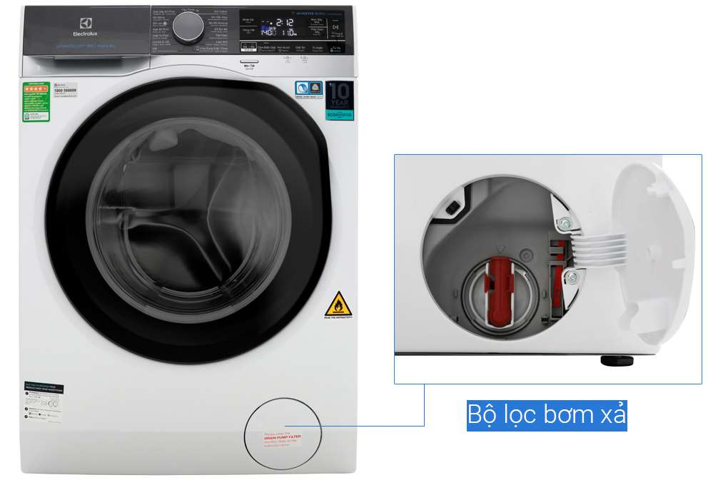 Máy giặt sấy Electrolux Inverter 10 kg EWW1042AEWA Mẫu 2019