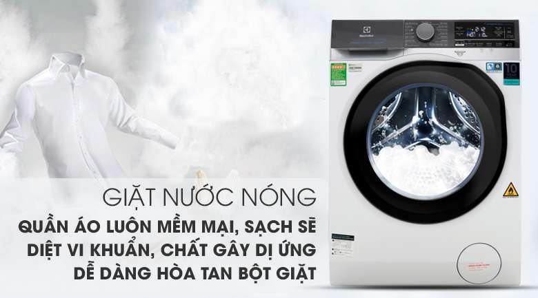 Chế độ giặt nước nóng hòa tan hoàn toàn bột giặt - Máy giặt sấy Electrolux Inverter 10 kg EWW1042AEWA