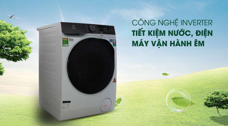Vận hành ổn định, tiết kiệm chi phí điện hàng tháng với công nghệ Inverter - Máy giặt sấy Electrolux Inverter 11 kg EWW1141AEWA