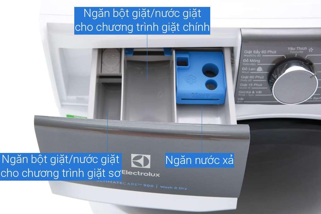 Máy giặt sấy Electrolux Inverter 8 kg EWW8023AEWA Mẫu 2019