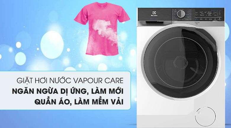 Giặt hơi nước - Máy giặt sấy Electrolux Inverter 8 kg EWW8023AEWA