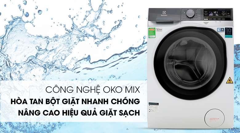 Công nghệ OKO MIX - Máy giặt sấy Electrolux Inverter 8 kg EWW8023AEWA