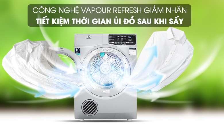 Công nghệ Vapour Refresh - Máy sấy Electrolux 8 kg EDS805KQSA