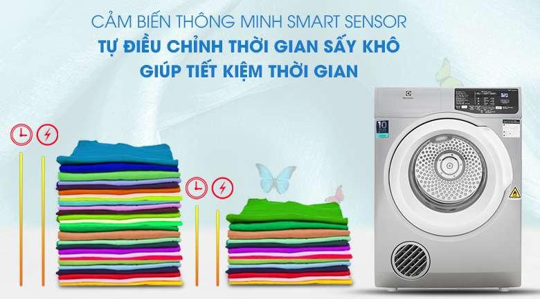 Cảm biến thông minh Smart Sensor - Máy sấy Electrolux 8 Kg EDV805JQSA