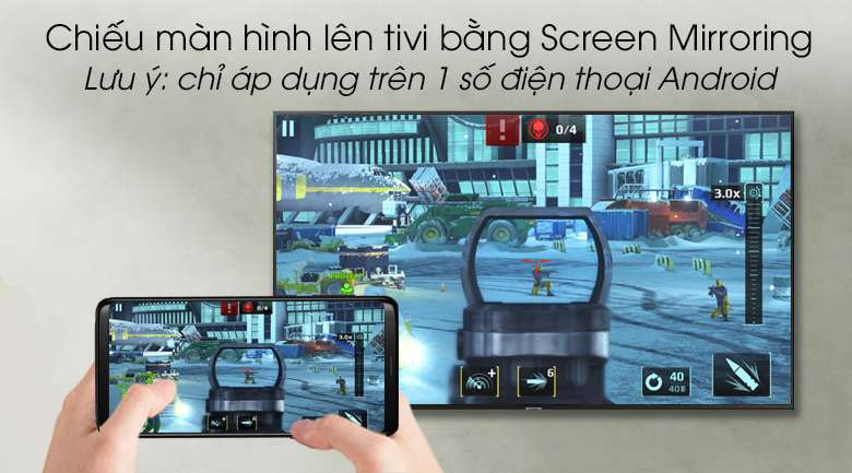Smart Tivi Samsung 4K 43 inch UA43RU7100 - Screen Mirroring