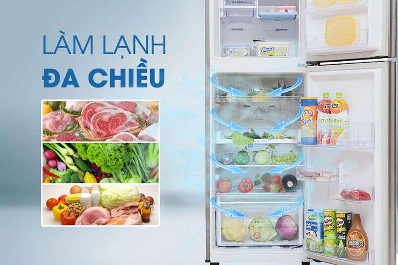 Tủ lạnh Samsung Inverter 208 lít RT20HAR8DDX/SV - Công nghệ luồng khí lạnh đa chiều