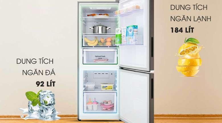 Tủ lạnh Samsung dung tích 276 lít - Tủ lạnh Samsung Inverter 276 lít RB27N4010DX/SV