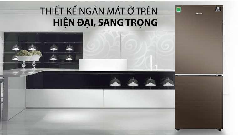 Thiết kế ngăn mát ở trên sang trọng, tiện lợi - Tủ lạnh Samsung Inverter 276 lít RB27N4010DX/SV