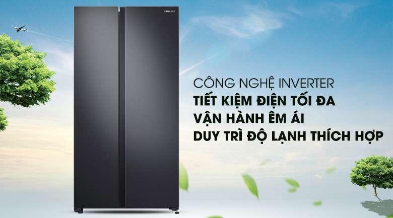 Công Nghệ Digital Inverter tiết kiệm điện năng hiệu quả - Tủ lạnh Samsung Inverter 647 lít RS62R5001B4/SV Mẫu 2019