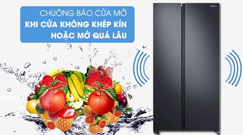 Chuông báo cửa mở phát tín hiệu cảnh báo khi cửa tủ bị hở hoặc mở quá lâu - Tủ lạnh Samsung Inverter 647 lít RS62R5001B4/SV Mẫu 2019