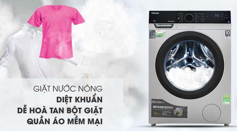 Giặt nước nóng - Máy giặt Toshiba Inverter 8.5 kg TW-BH95M4V SK