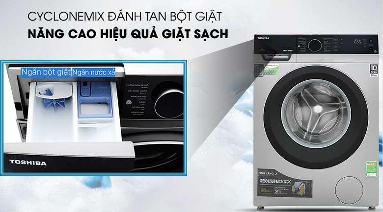 CycloneMix - Máy giặt Toshiba Inverter 8.5 kg TW-BH95M4V SK