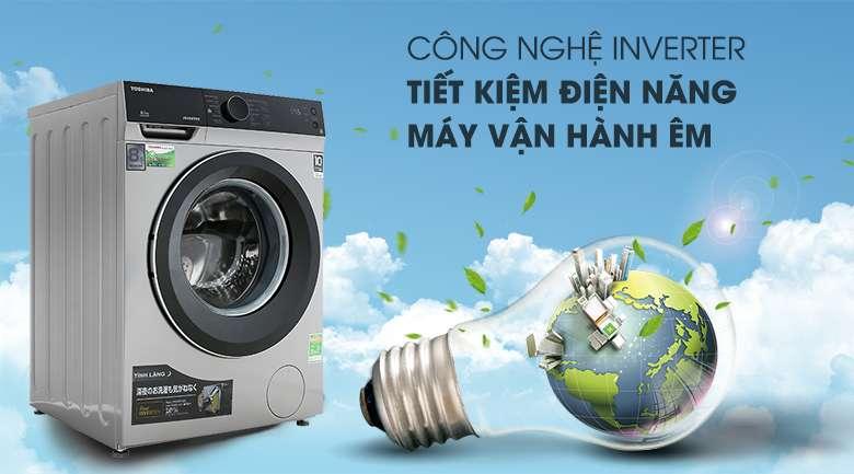 Real Inverter - Máy giặt Toshiba Inverter 8.5 kg TW-BH95M4V SK