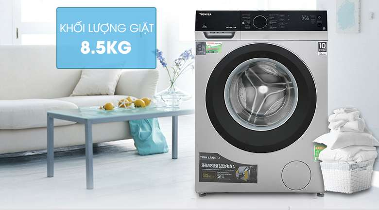 Khối lượng giặt 8.5 kg - Máy giặt Toshiba Inverter 8.5 kg TW-BH95M4V SK