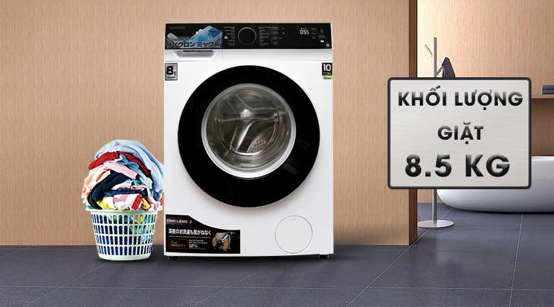 Khối lượng giặt 8.5 kg - Máy giặt Toshiba Inverter 8.5 kg TW-BH95M4V