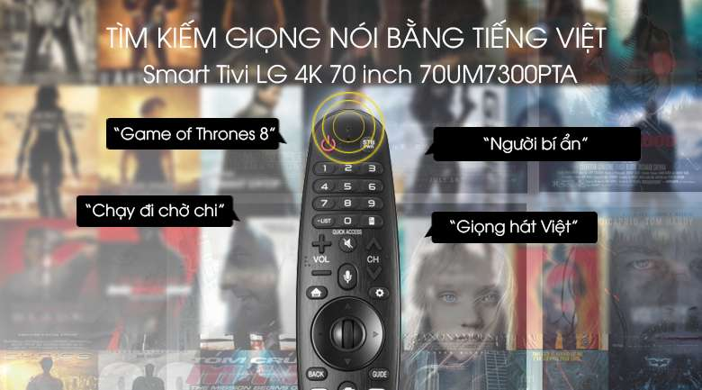 Smart Tivi LG 4K 70 inch 70UM7300PTA - Voice Search