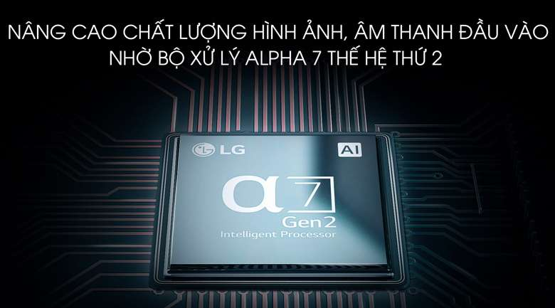 Chip xử lý Alpha 7 thế hệ thứ 2 - Smart Tivi OLED LG 4K 55 inch 55B9PTA