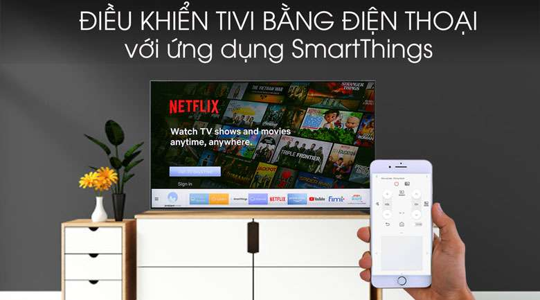 Smart Tivi QLED Samsung 4k 55 inch QA55Q75R - SmartThing