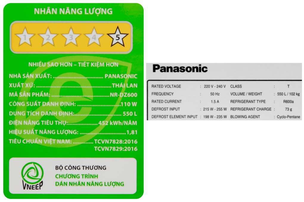 Tu Lanh Panasonic 550 Lit Nr Dz600gxvn 13