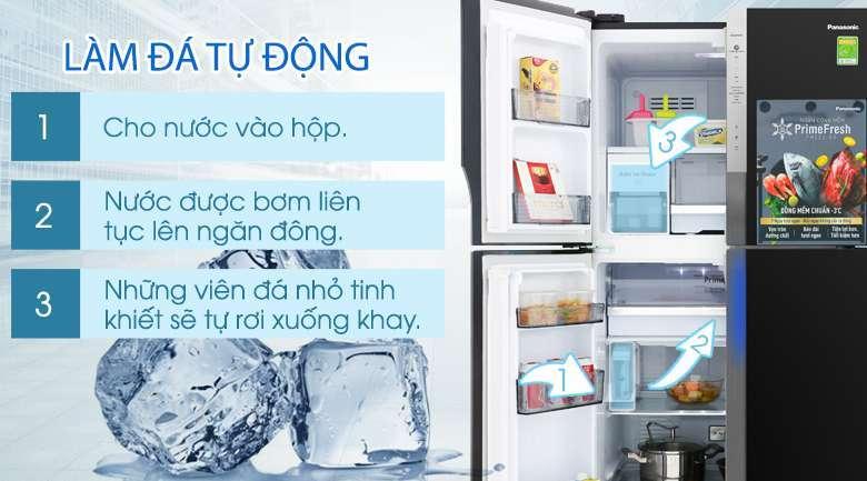 Chức năng làm đá tự động - Tủ lạnh Panasonic Inverter 550 lít NR-DZ600GXVN