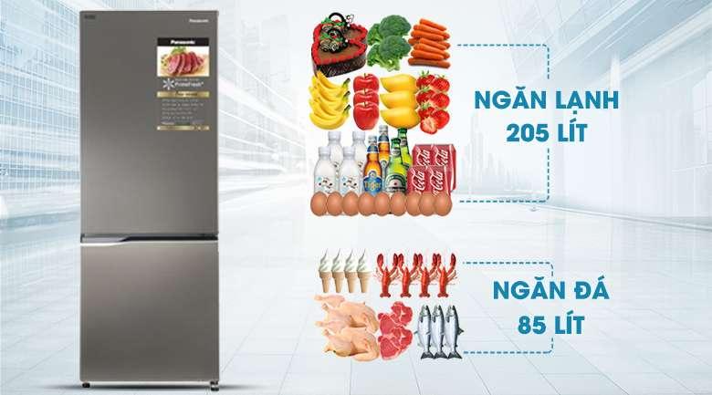 Dung tích sử dụng 290 lít - Tủ lạnh Panasonic Inverter 290 lít NR-BV320QSVN