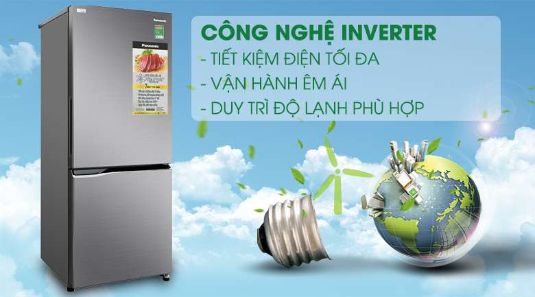 Tủ lạnh Inverter - Tủ lạnh Panasonic Inverter 290 lít NR-BV320QSVN