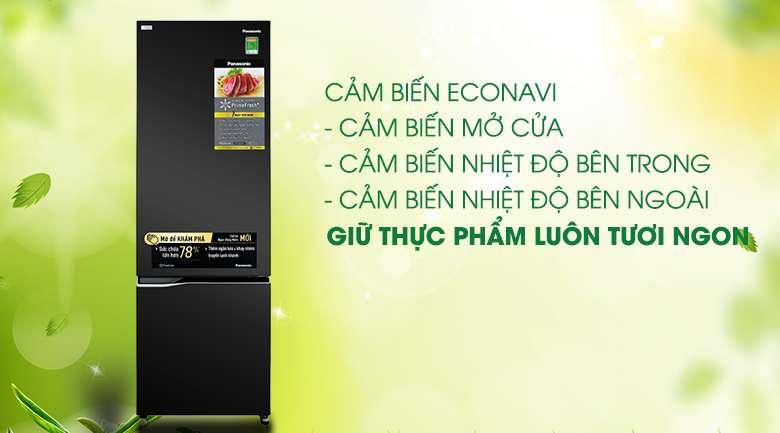 Trang bị cảm biến Econavi - Tủ lạnh Panasonic Inverter 322 lít NR-BC360QKVN