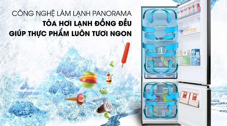 Công nghệ Panorama - Tủ lạnh Panasonic Inverter 322 lít NR-BV360GKVN
