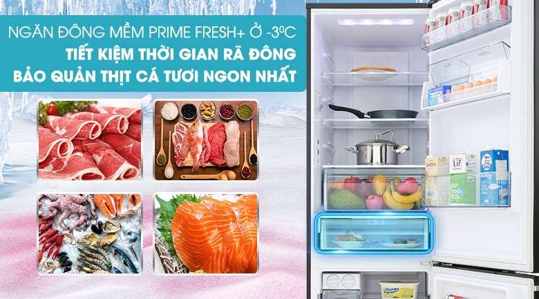 Ngăn đông mềm Prime Fresh+ ở -3 độ C - Tủ lạnh Panasonic Inverter 322 lít NR-BV360GKVN