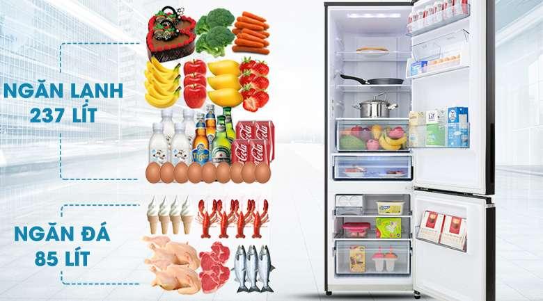 Dung tích 322 lít - Tủ lạnh Panasonic Inverter 322 lít NR-BV360GKVN